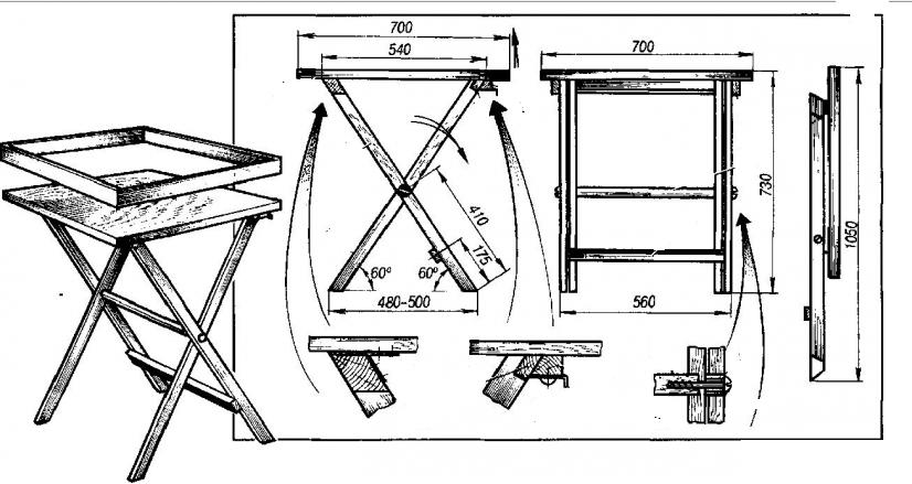Как сделать складной стол и стул своими руками